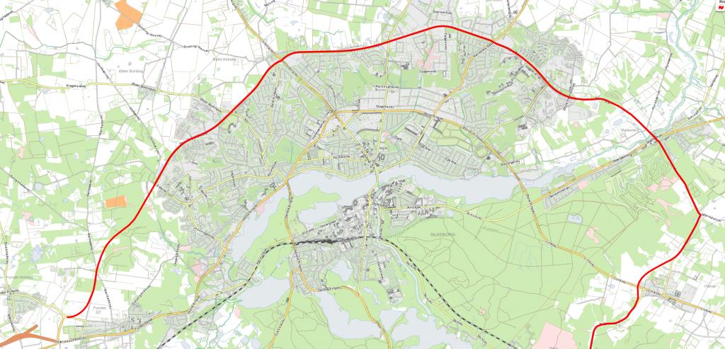 En færdiggjort Ring 2, der for alvor vil aflaste den øst-vest trafik, der ikke er på motorvejen - og dermed for alvor understøtte erhvervsområderne nord for bymidten.