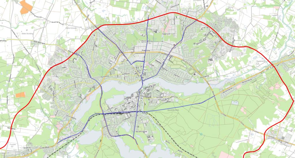Gode veje gennem Silkeborg fra nord til syd samt en færdiggørelsen af Ring 2