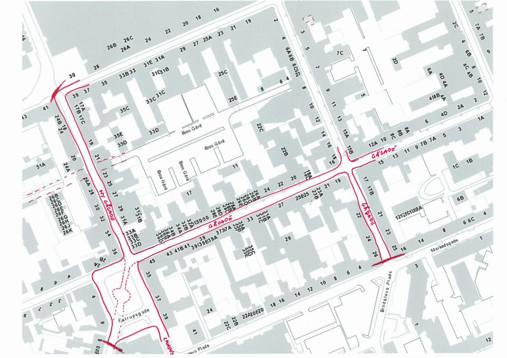 Trafikken skal uden om dette skønne område i midtbyen, så Skoletorvet og Nygade/Tværgade kan blive et lækkert latinerkvarter