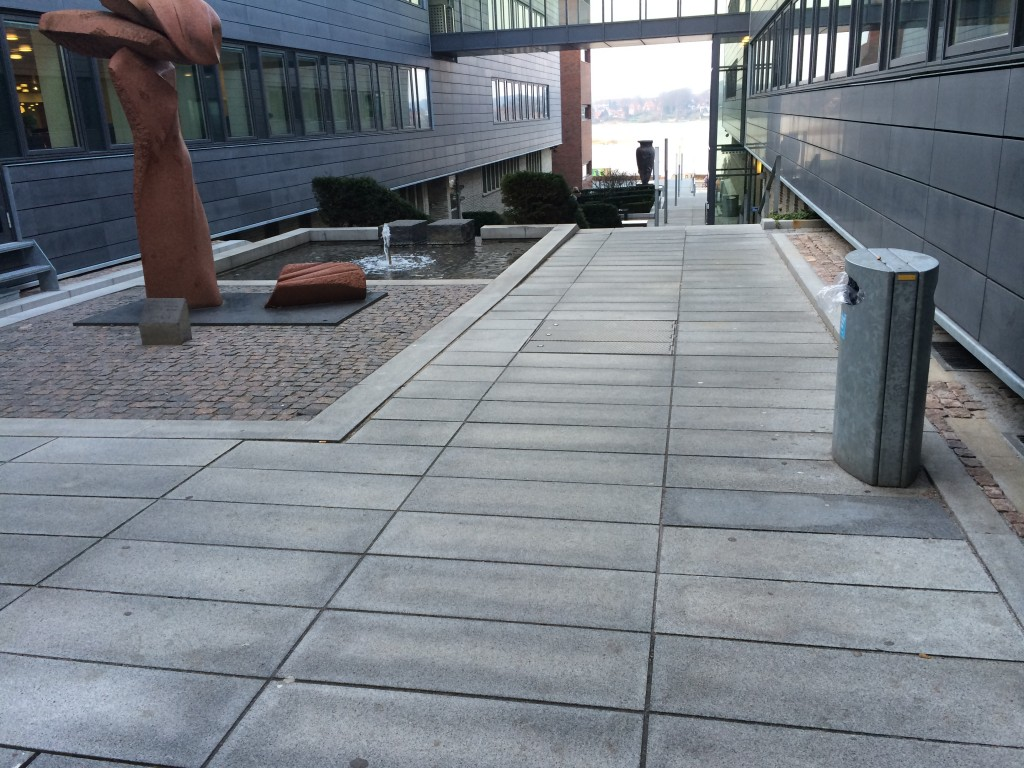 Flot view fra gågaden - skabt af Jyske Bank